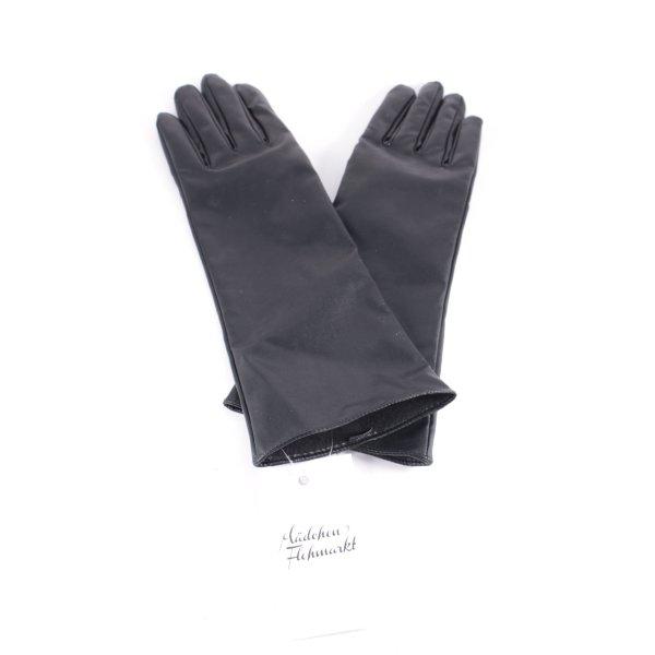 Orsay Lederimitathandschuhe schwarz schlichter Stil