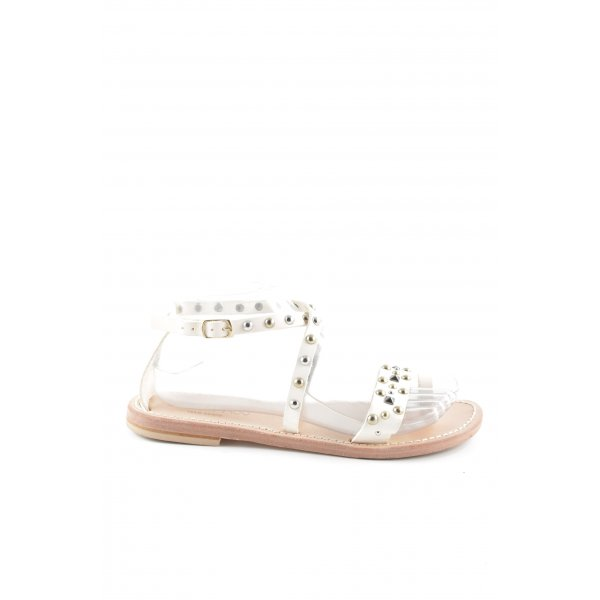 Strapped Sandals white casual look