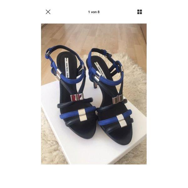 & Other Stories Blue Reddish Dark Sandaletten Pump Schuhe 39 NEU OVP