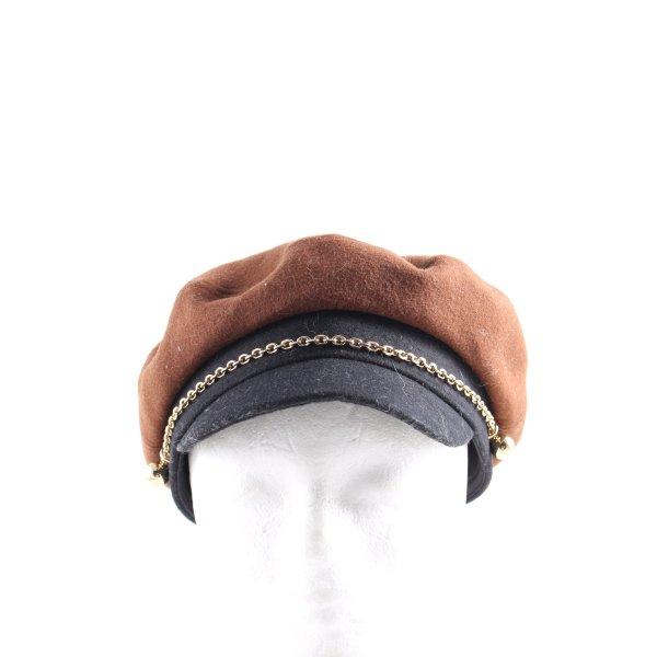 & other stories Flatcap braun-schwarz Casual-Look