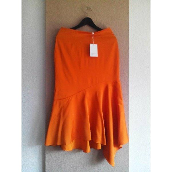 & other stories Midi Skirt grey brown-orange polyester