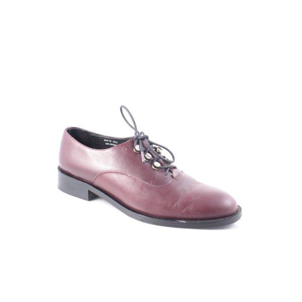 & other stories Zapatos estilo Oxford burdeos estilo boyfriend
