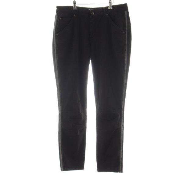 Oui Straight-Leg Jeans schwarz-hellgrau Casual-Look