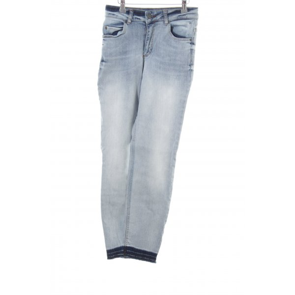 Oui Straight-Leg Jeans blau Casual-Look