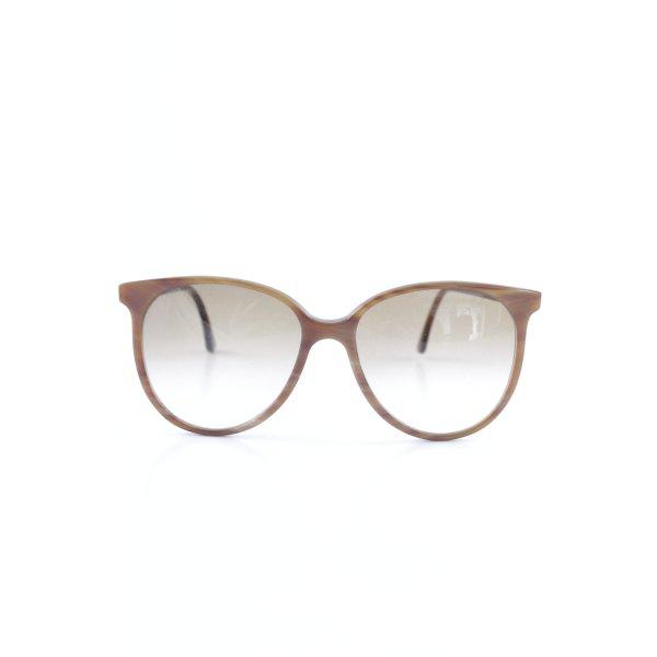 ovale Sonnenbrille hellbraun-taupe Street-Fashion-Look