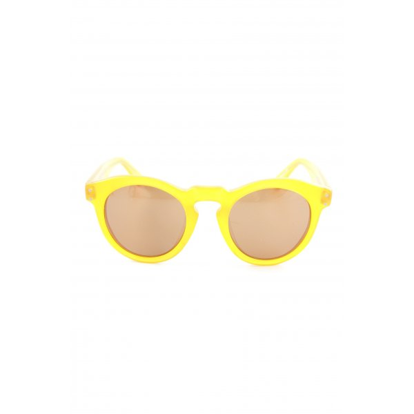 ovale Sonnenbrille schwarz-orange
