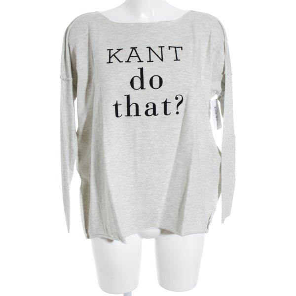 Oversized Shirt hellgrau-schwarz meliert sportlicher Stil