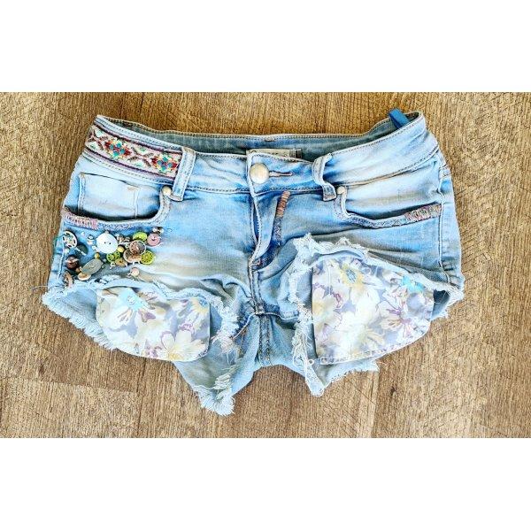oxygene shorts jeansshorts bestickt Ibiza Boho Bohemian