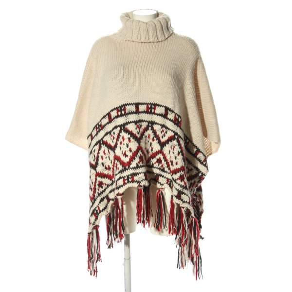 Oysho Strickponcho grafisches Muster Casual-Look