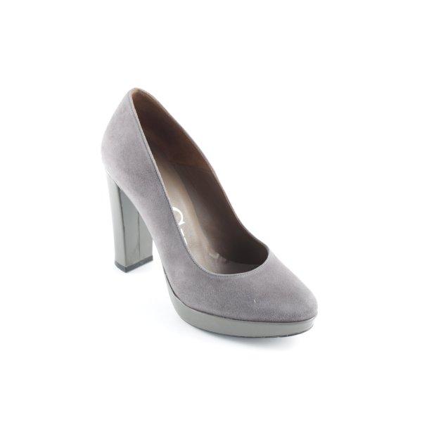 Paco Gil High Heels dunkelgrau minimalistischer Stil