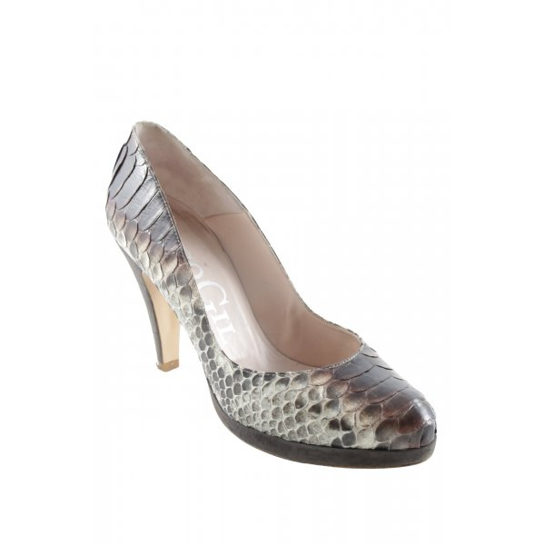 Paco Gil Plateau-Pumps Animalmuster Animal-Look