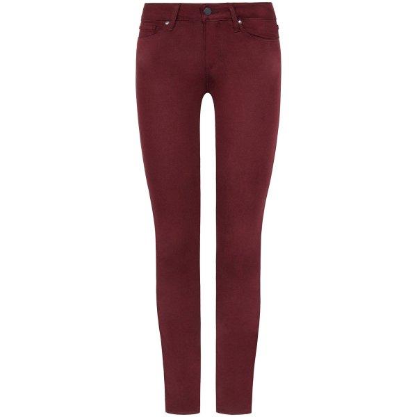 Paige Skinny Jeans Verdugo Ankle bordeaux rot - 27 - NEU