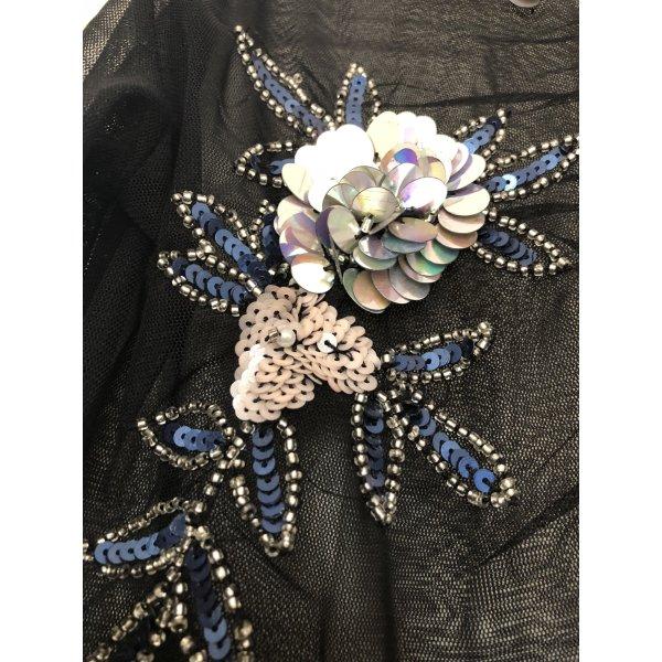 Pailletten besticktes transparentes oberteil Couture