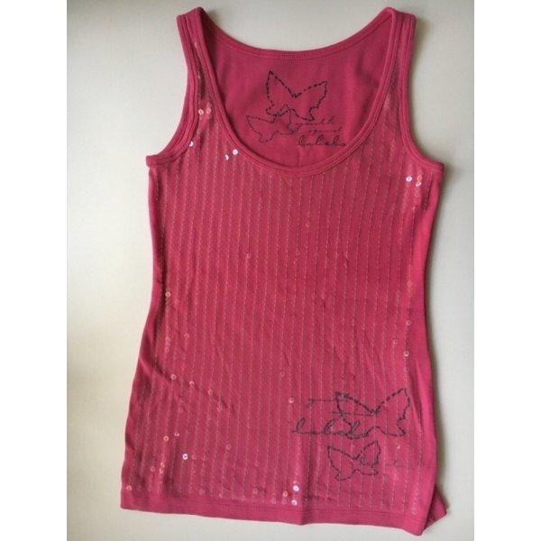 Pailletten Top pink   Gr. XS