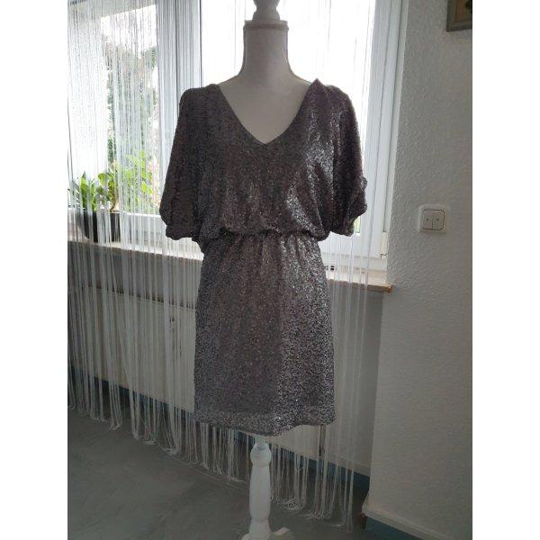 Paillettenkleid silber grau gr 36/38 von Rainbow