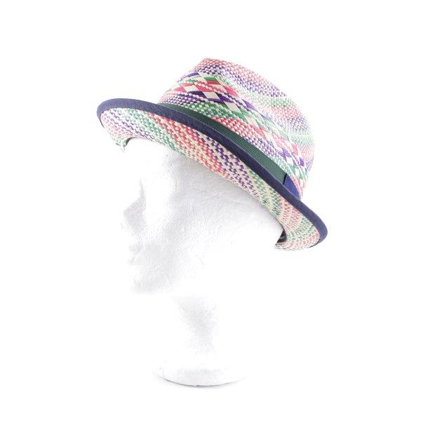 Cappello Panama motivo astratto stile casual