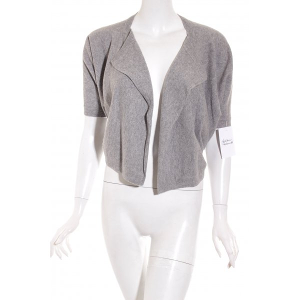 Parenti's Bolero lavorato a maglia grigio puntinato stile casual
