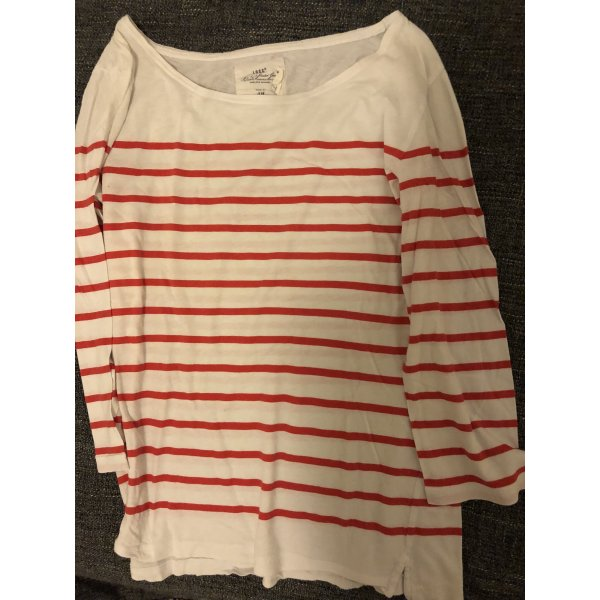 H&M Gestreept shirt wit-rood