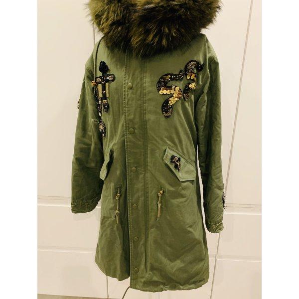 Miss & Furs Pelt Coat khaki