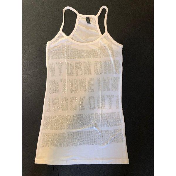 Only T-shirt biały-srebrny