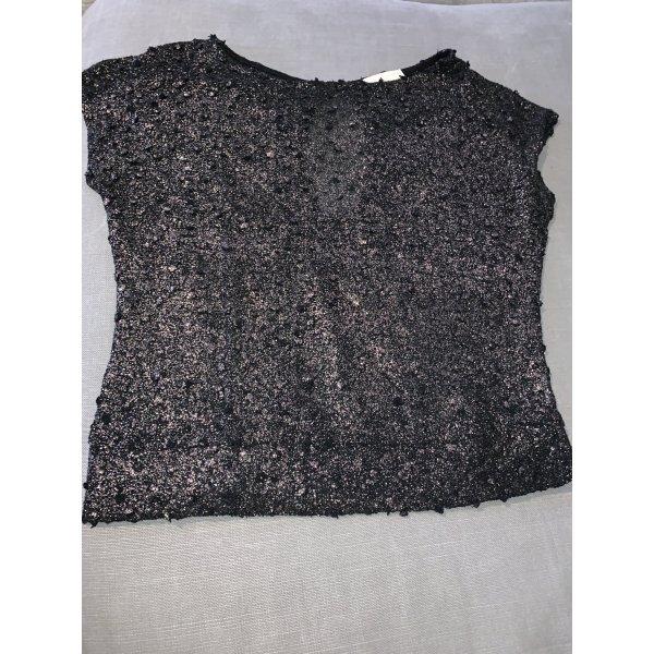 Boatneck Shirt black-silver-colored