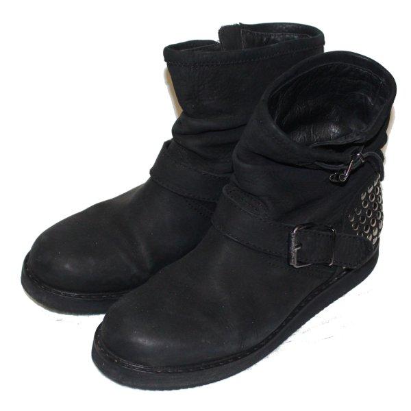Patrizia Pepe Botas de tobillo negro Cuero
