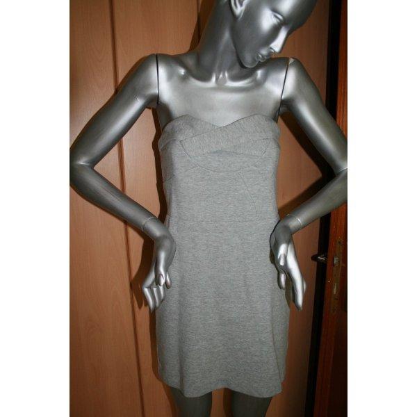 Paul & Joe Sister Gr. M trögerloses Kleid grau Baumwolle