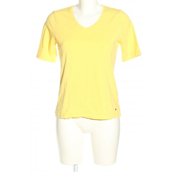 Peckott T-Shirt blassgelb Casual-Look