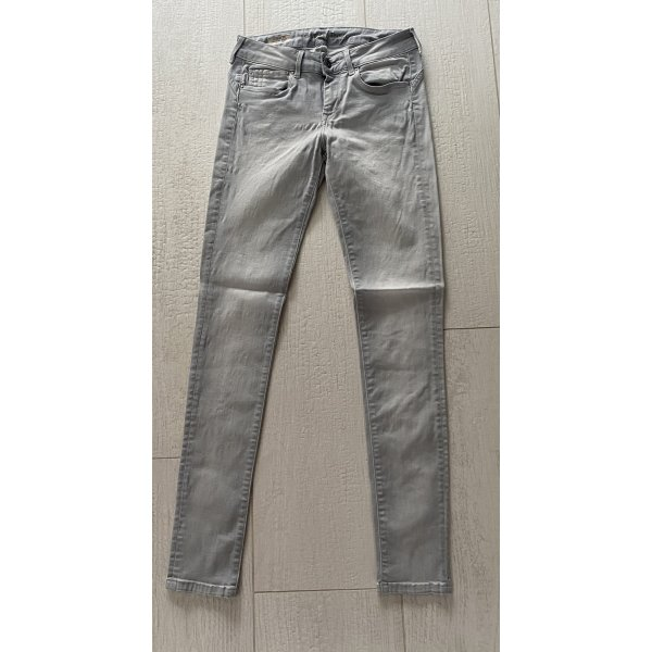 Pepe Jeans SEVENTY THREE Damen Stretch Jeans Gr. 29/32 Silber grau