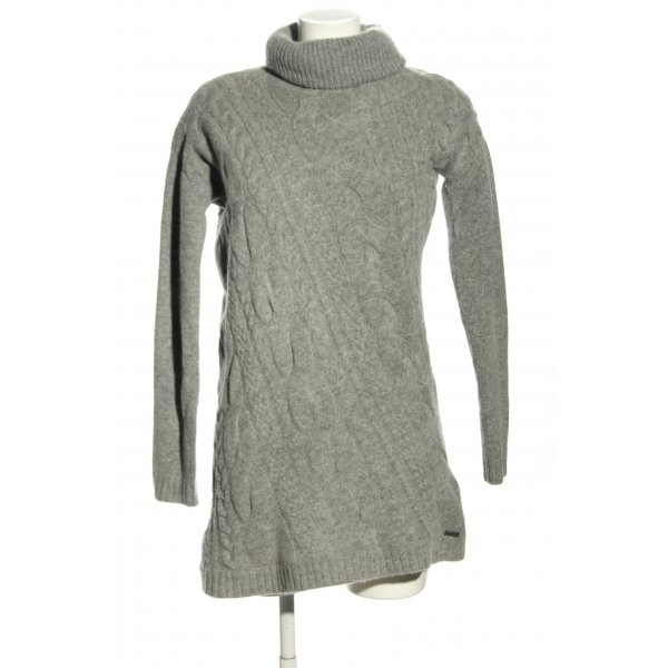 Pepe Jeans Wollpullover hellgrau Zopfmuster Casual-Look
