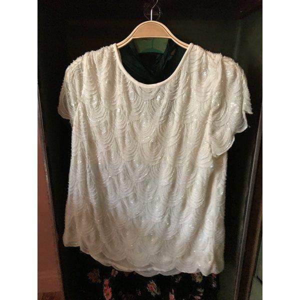 Perlenbesticktes Shirt