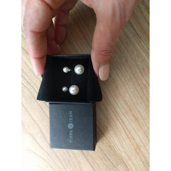 Perlenohrringe Doppelstecker von Pippa &Jean