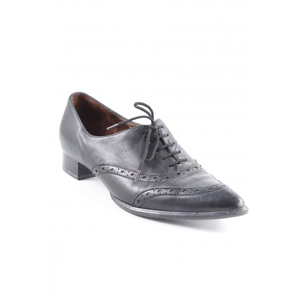 Peter Kaiser Zapatos estilo Oxford negro estilo «business»