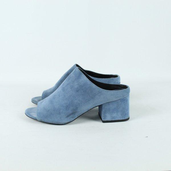PHILLIP LIM Pantolette Gr. 37 blau (19/12/264)