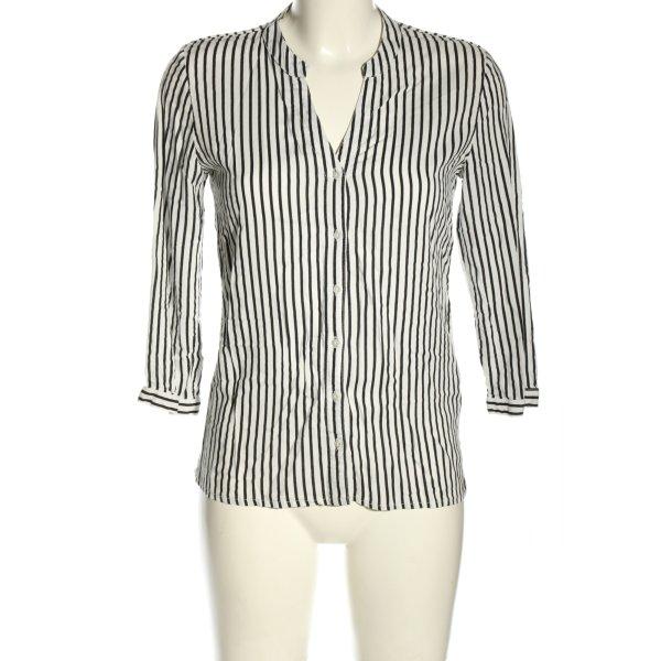 Pigalle Hemd-Bluse weiß-schwarz Streifenmuster Casual-Look