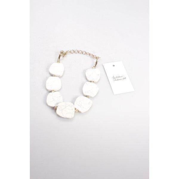 Pilgrim Kette weiß-goldfarben marmoriert