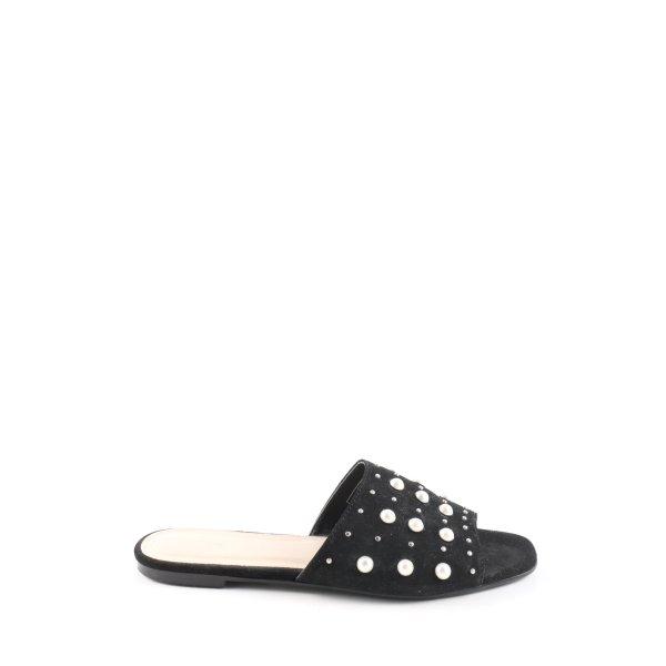Pimkie Komfort-Sandalen schwarz-weiß Casual-Look