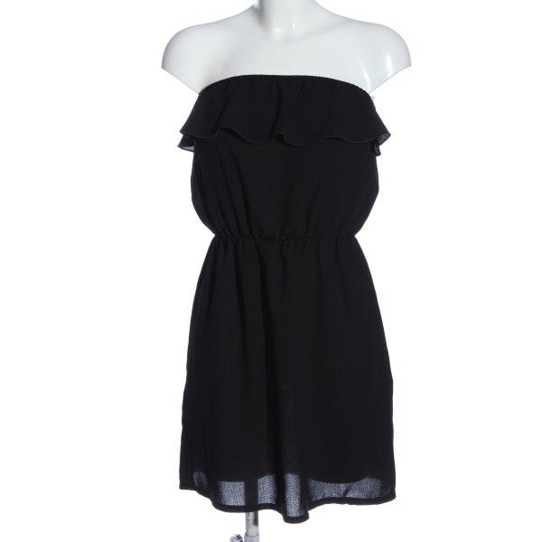 Pimkie schulterfreies Kleid schwarz Elegant