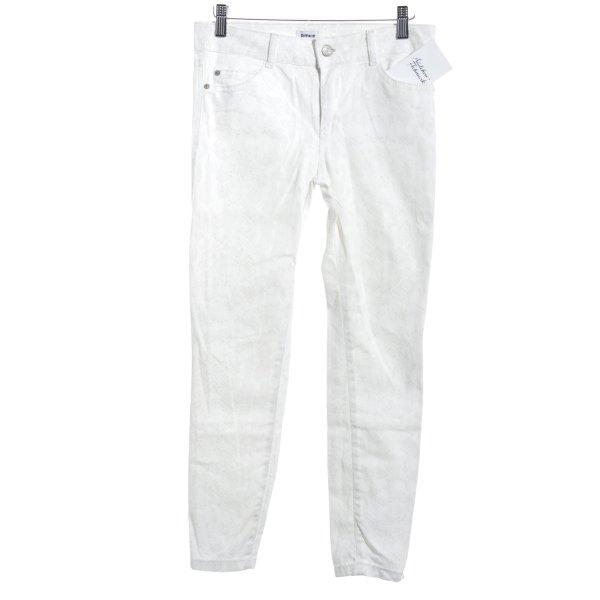 Pimkie Skinny Jeans wollweiß-creme Reptil-Optik
