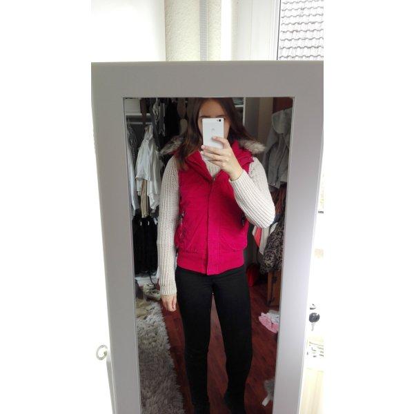 Pinke Winterjacke ohne Arme von Bench