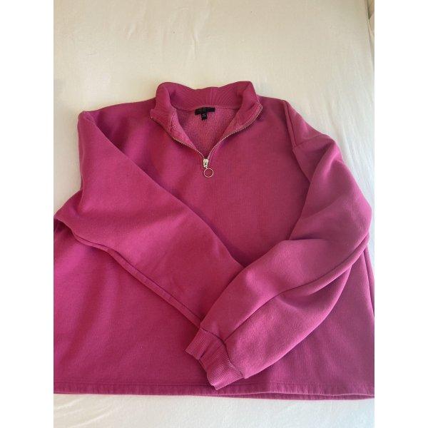 pinker Sweater von Topshop mit Reißverschluss