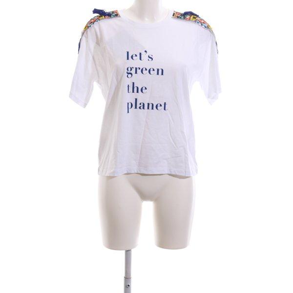 Pinko T-Shirt weiß-blau