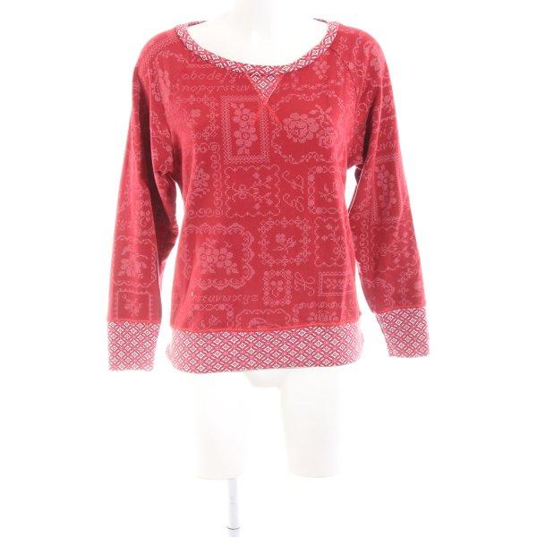 Pip studio Sweatshirt rot-weiß Blumenmuster Casual-Look