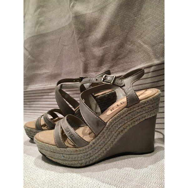 Plateau-Sandalen geflochten