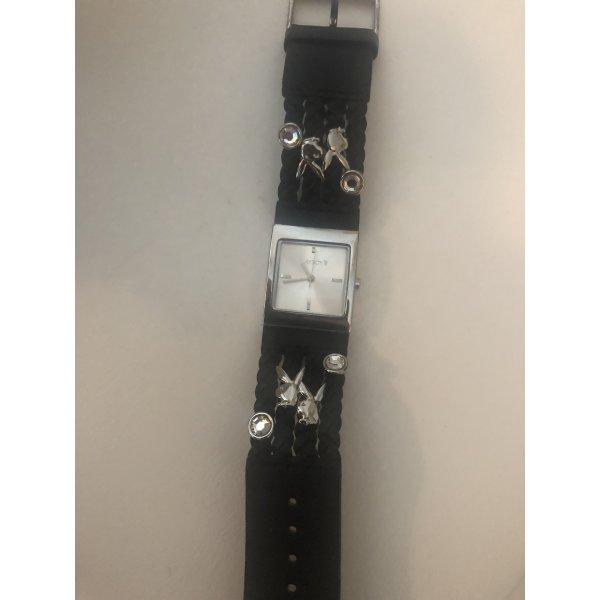Playboy Uhr schwarz Leder