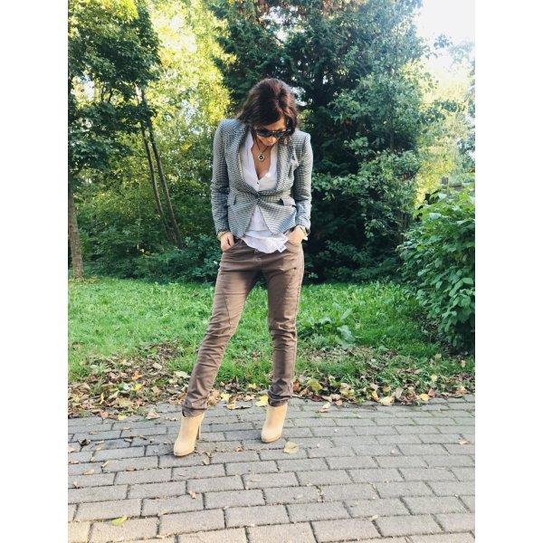 Please 7/8 Jeans grau Casual-Look Mischgewebe