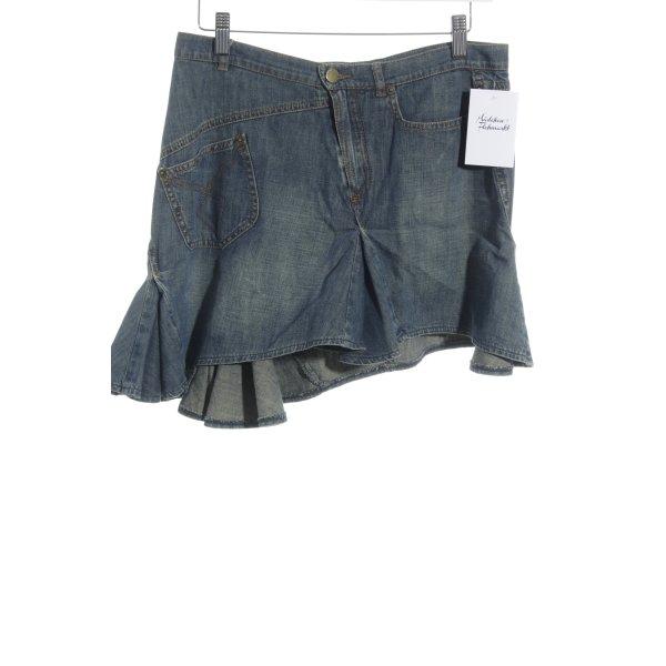 Plein Sud Jeans Jeansrock graublau-creme Beach-Look
