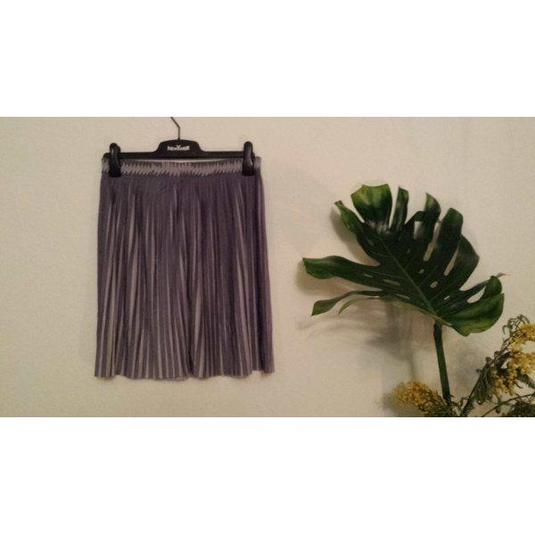 H&M Pleated Skirt dark grey-light grey polyester