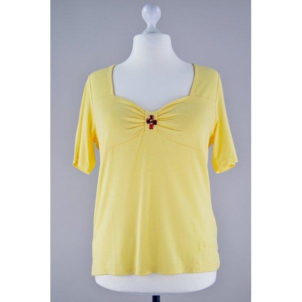 Pompöös Harald Glöckler Shirt gelb Größe 44