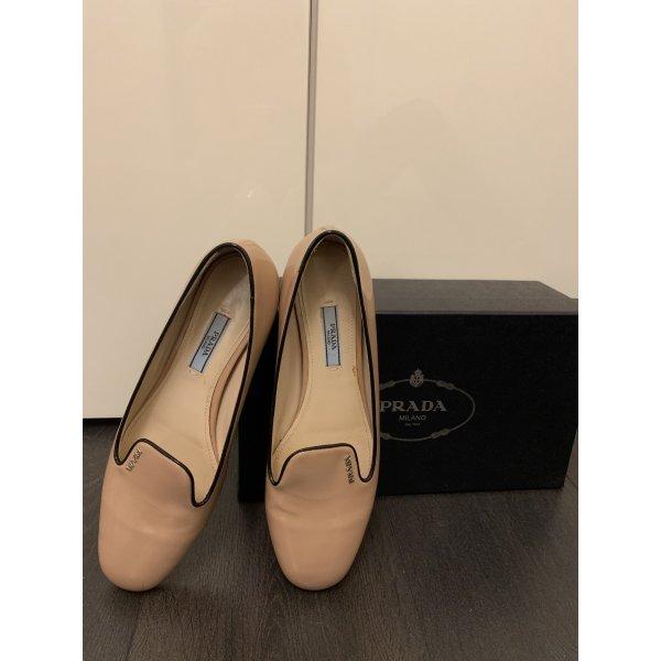 PRADA Ballerinas flache Schuhe Gr. 38,5
